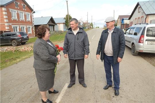 Альбина Егорова посетила строящийся военный мемориал в селе Абашево
