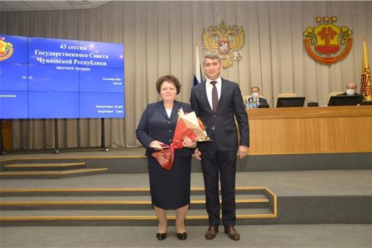Депутаты Госсовета награждены памятными медалями «100-летие образования Чувашской автономной области»