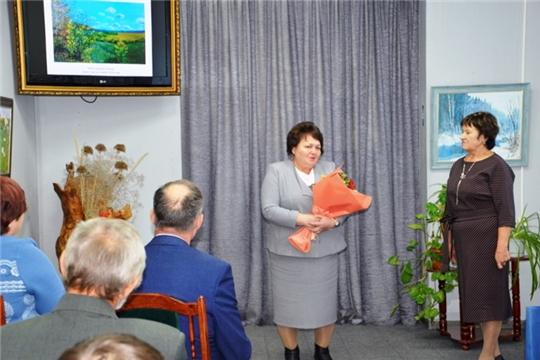 Альбина Егорова приняла участие в открытии персональной выставки художника Антонины Павловой