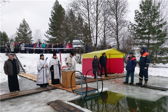 Шумерлинцы окунулись в крещенскую воду