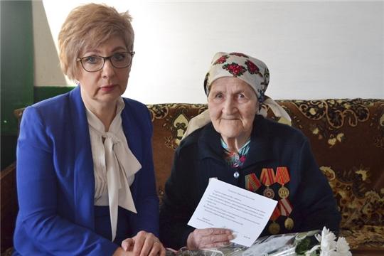 Персональное поздравление Президента РФ с 95-летием получила труженица тыла военных лет Прасковья Яковлевна Егорова