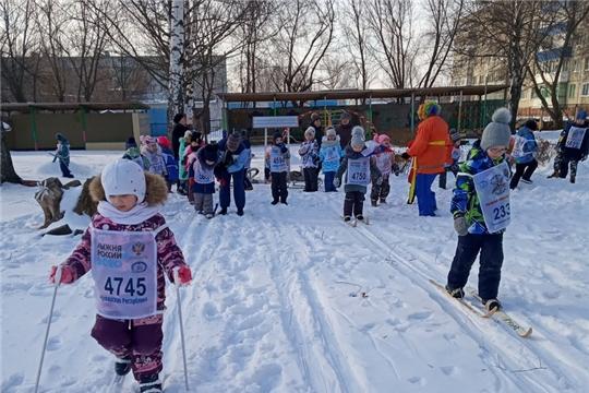 Всероссийская массовая лыжная гонка «Лыжня России» в дошкольных учреждениях города Шумерля