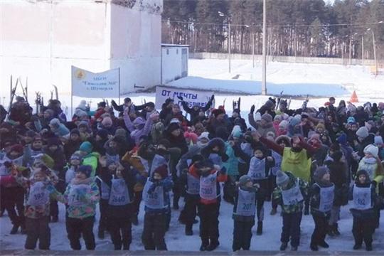 Всероссийская массовая лыжная гонка «Лыжня России» в начальных классах школ города Шумерля