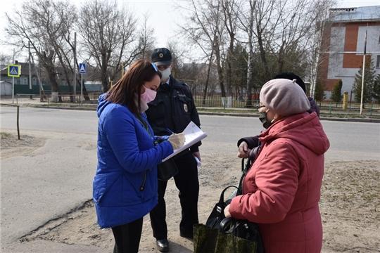 В Шумерле мобильные группы патрулируют территорию города на предмет соблюдения гражданами ограничительных мер, обозначенных в Указе Главы республики