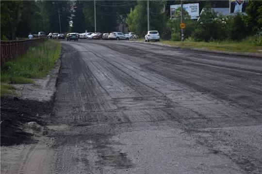 В Шумерле ведется текущий ремонт автомобильных дорог