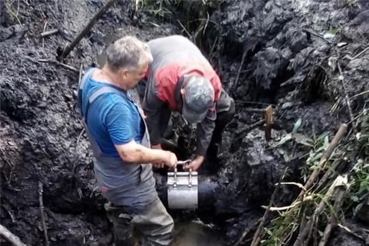 Завершены работы по устранению прорыва на водоводе в поселке Лесной