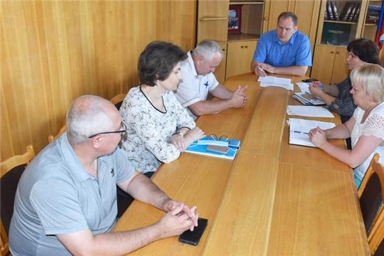 Глава администрации города Шумерля Валерий Шигашев провел совещание по вопросам, связанным с банкротством МУП «Шумерлинские городские электрические сети»