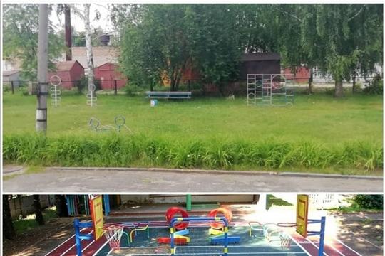 В рамках программы инициативного бюджетирования в детском саду № 4 «Ладушки» города Шумерля начались работы по устройству спортивной площадки