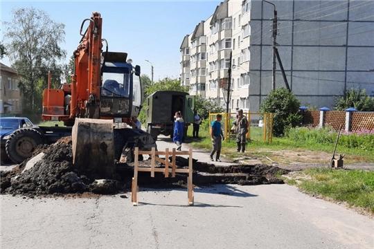 Прорыв на магистральном водоводе по улице Маршала Жукова обнаружен и оперативно устранен