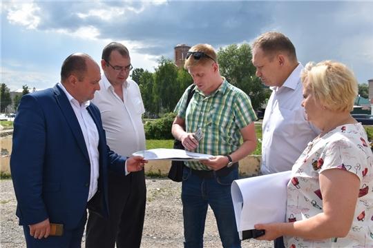 В Шумерле приступили к благоустройству общественного пространства в рамках реализации приоритетного проекта «Формирование комфортной городской среды»