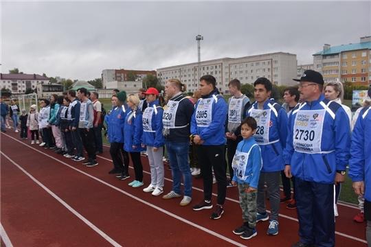В рамках Всероссийского дня бега «Кросс нации - 2020» в Шумерле прошла традиционная легкоатлетическая эстафета на призы газеты «Вперед»