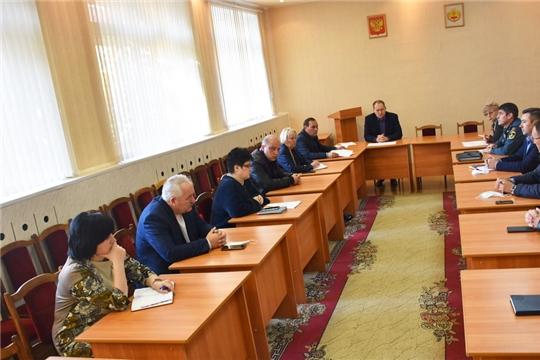 Второй этап комплексных командно-штабных учений по вопросам ликвидации ЧС: заседание Комиссии по ЧС и ОПБ города Шумерля