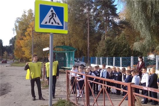 Акция «Наш пешеходный переход» от волонтеров гимназии