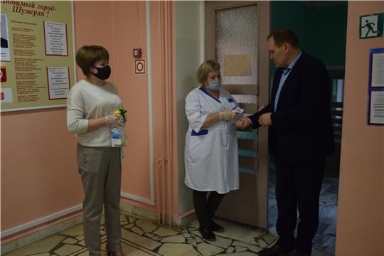 Обеспечение безопасности детей в образовательных учреждениях города Шумерля в период пандемии распространения короновирусной инфекции под постоянным контролем