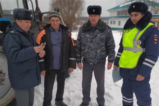 """Очередной рейд мероприятия """"Снегоход-2020"""" в Комсомольском районе"""