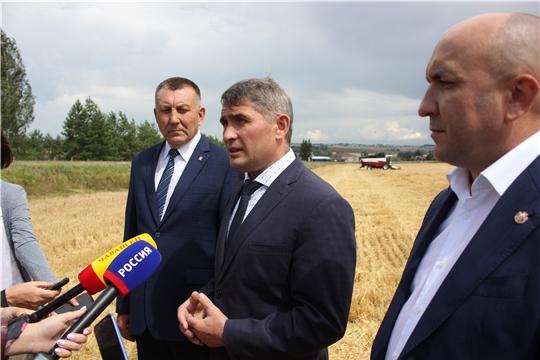 Яльчикский район с рабочим визитом посетил врио Главы Чувашской Республики Олег Николаев