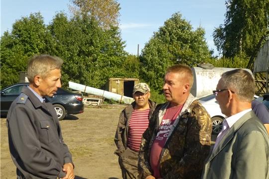 25 августа начальник  Гостехнадзора Чувашии Владимир Димитриев рабочей  поездкой посетил  в Красночетайский  район