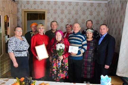 90-летний юбилей отметила жительница деревни Кубня Уткина Агриппина Макаровна