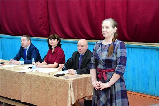 В селе Чувашские Тимяши прошел отчет главы поселения и администрации района