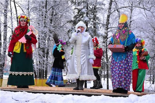 В Парке культуры и отдыха п.Ибреси состоялось празднование Масленицы