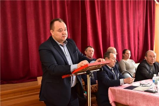 Состоялось отчётное собрание работников колхоза «Красный партизан»