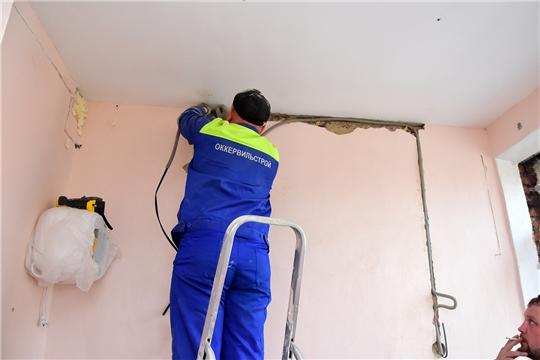 Ход ремонта поликлиники Ибресинской ЦРБ - на контроле главы администрации района