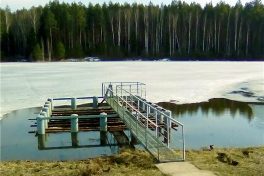 Прошло предпаводковое обследование водохранилища, находящегося в оперативном управлении КУ «Гидроресурс» Минприроды Чувашии