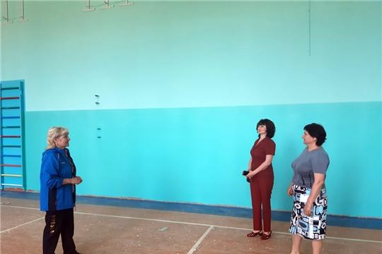 Продолжается капитальный ремонт спортзала Чуваштимяшской средней школы
