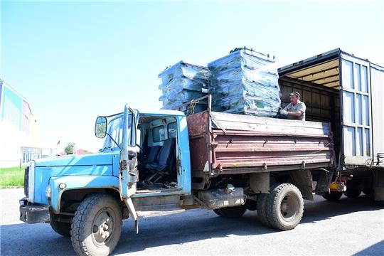 В Ибресинский район поступило 770 евроконтейнеров