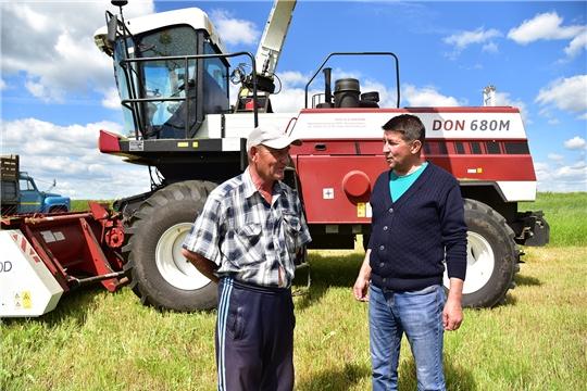 Заготовка кормов в Ибресинском районе идет полным ходом
