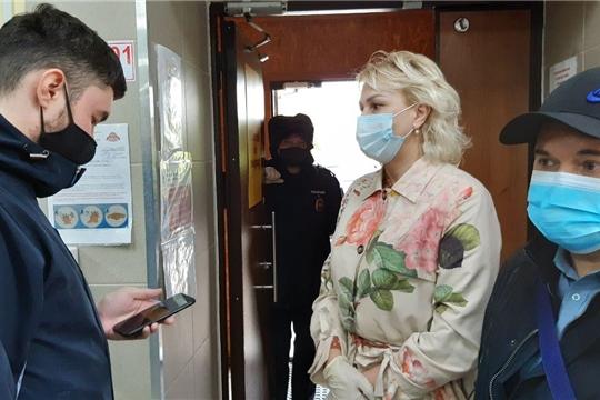 Рейд по соблюдению масочного режима в г. Цивильск