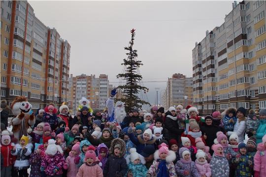 В микрорайоне Новый город состоялся новогодний дворовый праздник