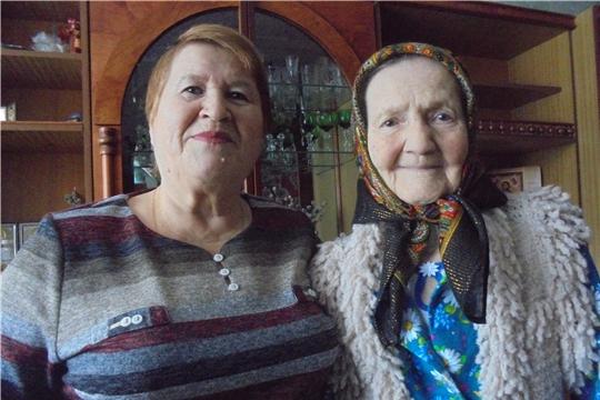 Долгожительница Калининского района отметила 95-летний юбилей