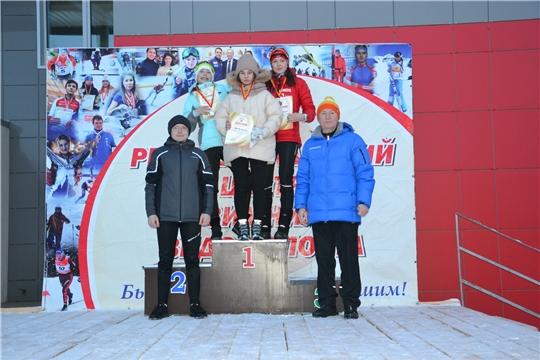 Представители Калининского района серебряные призеры Чемпионата и первенства Чувашской Республики по лыжным гонкам в спринте