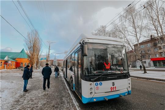С 27 января продлевается маршрут троллейбуса №100 между Чебоксарами и Новочебоксарском