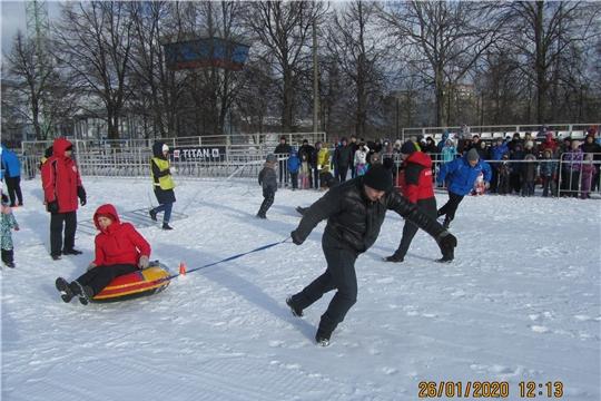 6 семей Калининского района поднялись на пьедестал почета во Всероссийский день снега