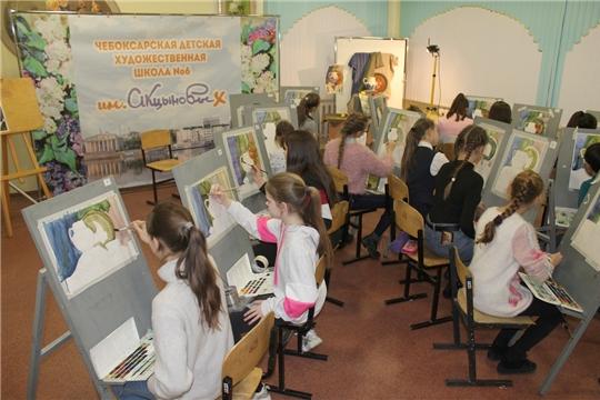 В Чебоксарской детской художественной школе №6 им. Акцыновых дан старт Акварельному марафону