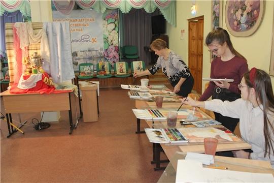 Третий день Акварельного марафона прошел в Чебоксарской детской художественной школе №6 им. Акцыновых