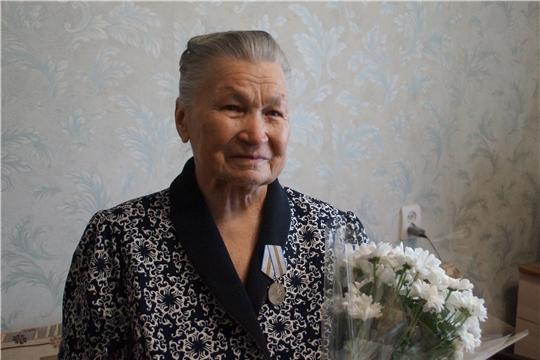 Юбилейная медаль «75 лет Победы в Великой Отечественной войне 1941–1945 гг.» вручена Комзаковой Римме Афанасьевне
