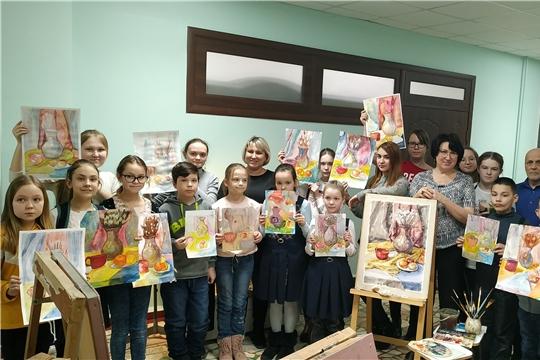 Мастер-класс по акварельной живописи состоялся в Чебоксарской детской школе искусств № 1