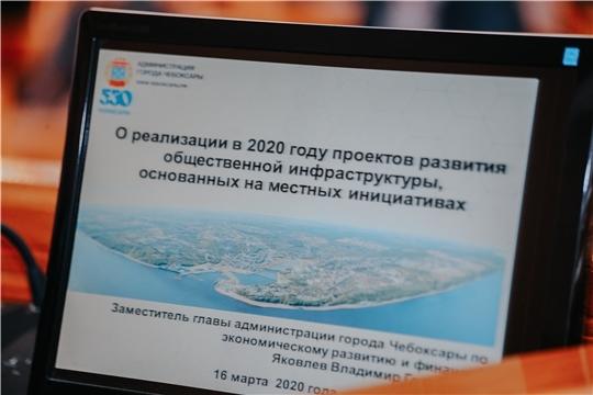 Софинансирование в 2020 году получат 8 проектов развития общественной инфраструктуры в Чебоксарах