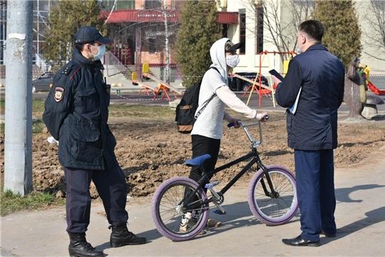 В городе Чебоксары проведен рейд по проверке соблюдения режима самоизоляции