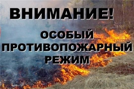 Об установлении на территории Чувашской Республики особого противопожарного режима