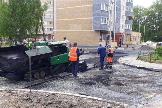 В городе Чебоксары завершаются работы по ремонту дорог