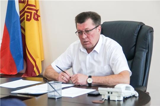 Планёрка при главе администрации Калининского района города Чебоксары