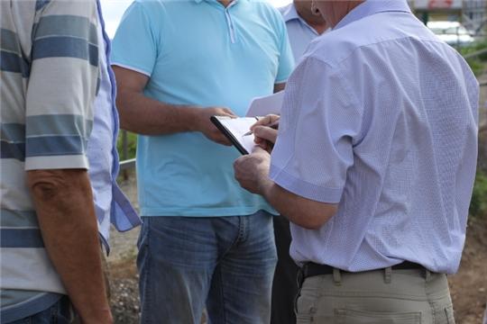 Выездное рабочее совещание по вопросу устранения недостатков после проведения работ по капитальному строительству автодороги «Бульвар Солнечный»