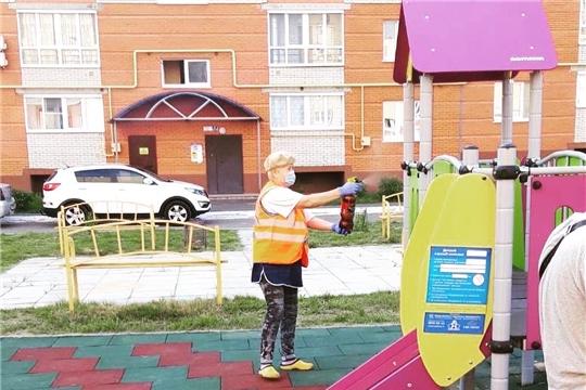 Дезинфекционные мероприятия на открытых пространствах Калининского района