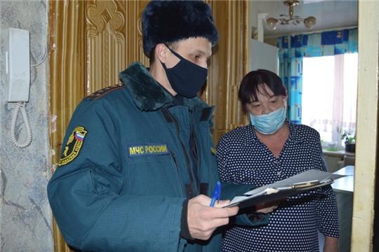 В городе Чебоксары проведены мероприятия по профилактике пожаров и установке датчиков дыма в многодетных семьях