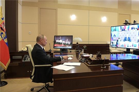 Совещание с главами регионов по борьбе с распространением коронавируса в России