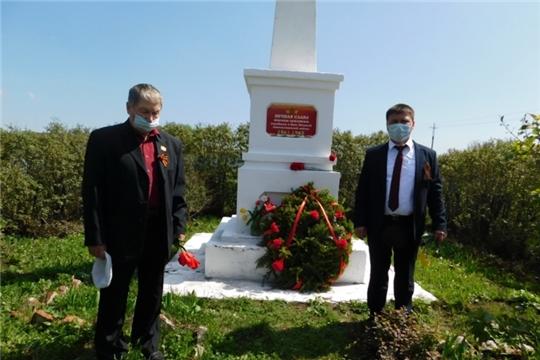 Возложение живых цветов и венков к обелискам павшим воинам в Шибылгинском сельском поселении